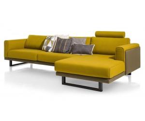 Canapé d'angle jaune