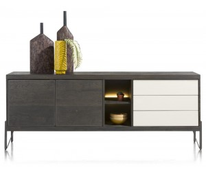 Buffet marron carbone et blanc contemporain