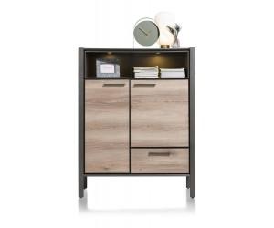 armoire basse style bois et métal