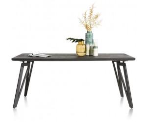 Table grise foncée pieds métal