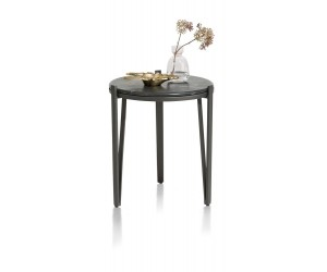 Table d'appoint ronde marbre noir