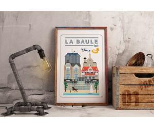 Tableau illustration La Baule