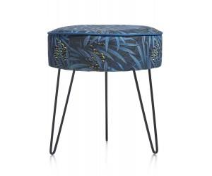 Pouf style minimaliste motifs bleus