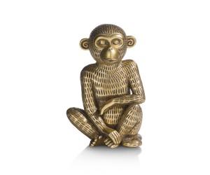 objet tirelire singe doré