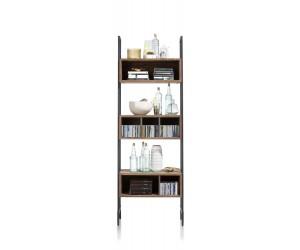 bibliothèque rétro chic bois et cadre métallique noir