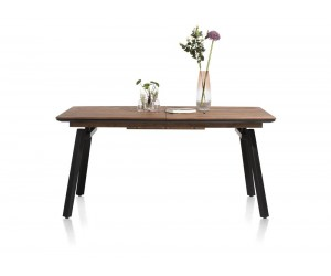 Table à rallonge rétro chic bois et pieds métalliques