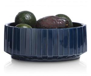 saladier en céramique bleu foncé