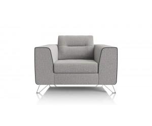 fauteuil moderne style rétro tissu gris clair