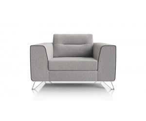 Canapé 1,5 place moderne tissu gris clair