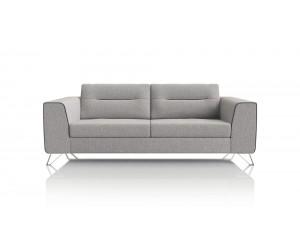 Canapé 2 places moderne tissu gris clair