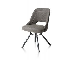 Chaise contemporaine tissu anthracite