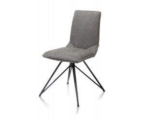 Chaise scandinave en tissu pieds métalliques noirs