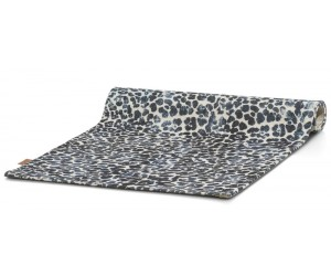 Tapis rectangle motifs léopards