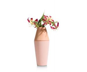 Vase haut en céramique corail