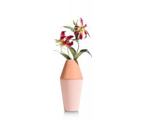 Vase en céramique couleur corail