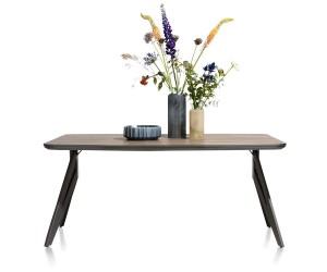 Table bois foncé et pieds métalliques style industriel