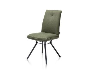 Chaise confortable style scandinave en tissu vert