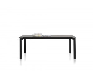 Table contemporain plateau céramique gris anthracite