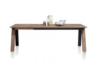 Table à rallonge contemporaine en bois de chêne plaqué