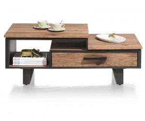 Table basse bois de chêne et métal noir