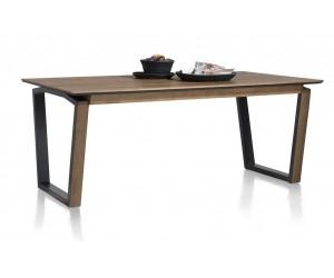 Table à rallonge 4 à 8 personnes en bois foncé