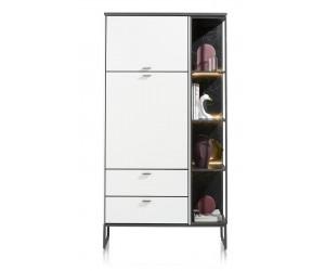Armoire contemporaine minimaliste noir et blanche
