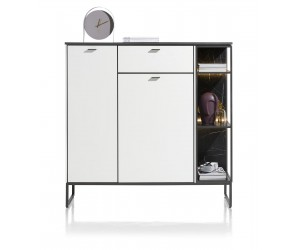 Highboard contemporain minimaliste noir et blanc