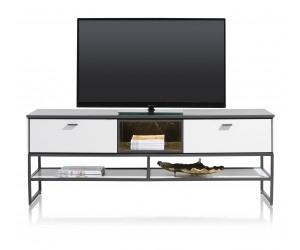 Meuble TV contemporain et minimaliste noir et blanc
