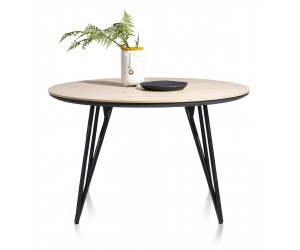 Table à manger ronde scandinave piétement design