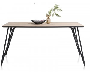 Table de bar scandinave piétement design noir