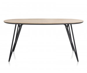 Table de bar scandinave ovale piétement design noir