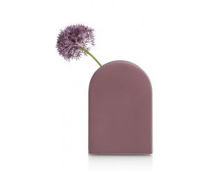 Vase design contemporain en céramique violet/rose