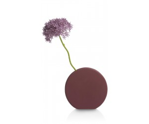Vase design contemporain en céramique violet/rose