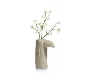 Vase en céramique beige forme toucan