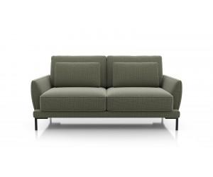 Canapé 2,5 places contemporain en tissus vert