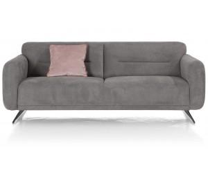 Canapé 3 places en tissus gris