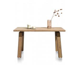 Table robuste et industrielle en bois de kikar massif