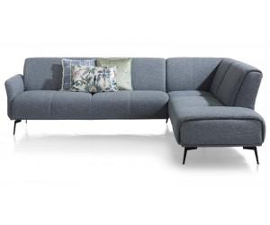 Canapé d'angle minimaliste en tissus gris clair