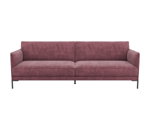Canapé 3,5 places moderne en tissu rose