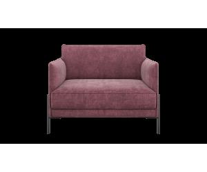 Canapé / fauteuil moderne en tissu rose