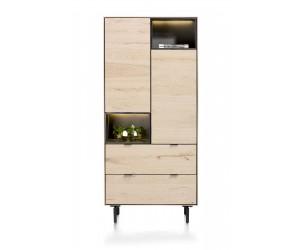 Armoire haute en placage bois de chêne couleur naturelle