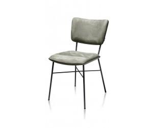 Chaise minimaliste en tissu vert kaki