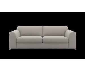 Canapé 4 places en tissu gris clair