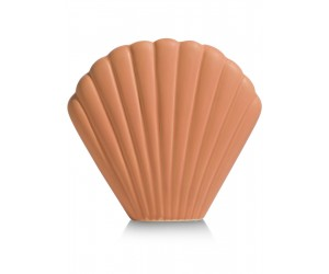 Vase estival forme coquillage 100% céramique teinte corail