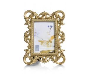 Cadre photo baroque couleur dorée
