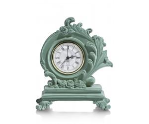 Horloge à poser style baroque couleur menthe