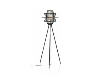 Lampadaire en bambou noir