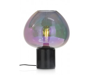 Lampe moderne en verre teinté violet