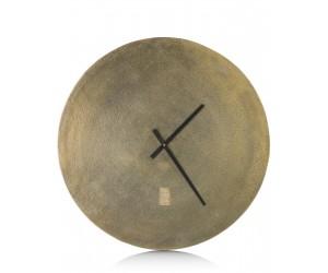 Grande horloge dorée moderne et minimaliste