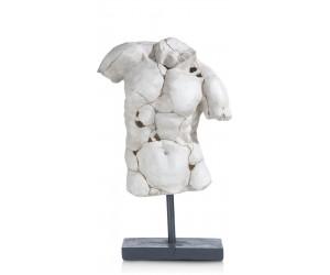 Statue buste d'homme antique reconstituée